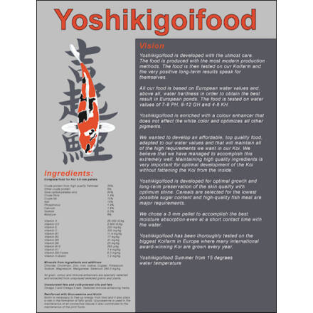 Yoshikigoi nyári táp 3 kg