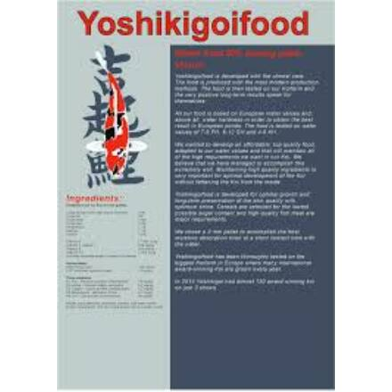Yoshikigoi téli táp 3 kg